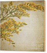 Sepia Gold Wood Print