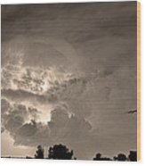 Sepia Light Show Wood Print by James BO  Insogna
