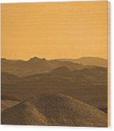 Sepia Mountains Wood Print