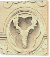 Sepia Reindeer Wood Print