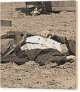 Sepia Rodeo Gunslinger Victim Wood Print
