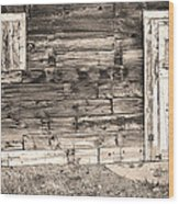 Sepia Rustic Old Colorado Barn Door And Window Wood Print by James BO  Insogna