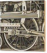 Sepia Wheels Wood Print