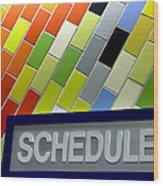 Septa Schedules Wood Print