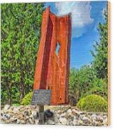 September 11th Memorial Mantua N J Wood Print