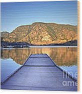 September 1st At Skaha Lake Wood Print