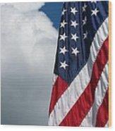 September Flag Wood Print