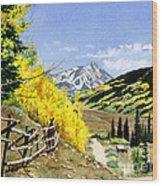 September Gold Wood Print