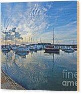 September Morning At Lyme Regis Wood Print