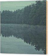 September Reflection Wood Print