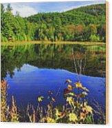 September Reflections Wood Print