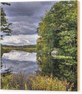 September Storm Clouds Wood Print
