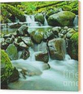 September Stream  Wood Print