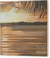 September Sunset 7 32pm Haulover Park Wood Print
