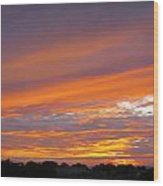 September Sunset Three  Wood Print