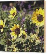 September Yellow Wood Print