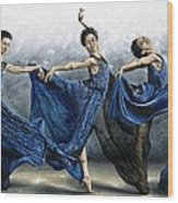 Sequential Dancer Wood Print by Richard Young