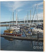 Sequim Bay  Wood Print by Heike Ward