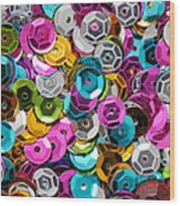 Sequins Abstract Wood Print