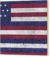 Serapis Flag Wood Print by World Art Prints And Designs