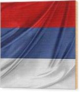 Serbian Flag Wood Print
