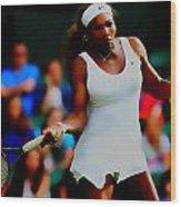 Serena Williams Making It Look Easy Wood Print