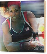 Serena Williams Wood Print