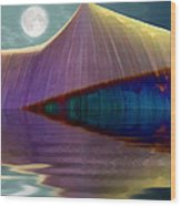 Serendipity By Moonlight Wood Print by Wendy J St Christopher