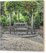 Serene Bench Wood Print