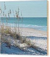 Serene Florida Beach Scene Wood Print