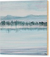 Serene Lake View Wood Print