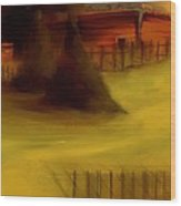 Serene New England Cabin In Autumn 5 Wood Print