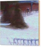 Serene New England Cabin In Winter #10 Wood Print