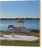 Serenity At The Lake Wood Print