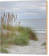 Serenity Beach In Color Wood Print