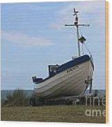 Serenity Boat Wood Print