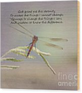 Serenity Courage And Wisdom Wood Print