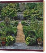Serenity Garden. Wood Print