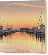 Serenity Harbor 1 Wood Print