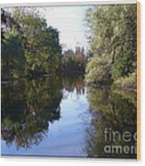 Serenity Pond Reflection At Limehouse Ontario Wood Print