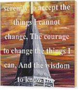 Serenity Prayer 1 Wood Print