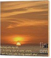 Serenity Sunset Wood Print