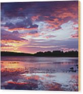 Serenity Sunset Wood Print