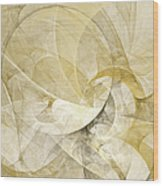 Series Abstract Art In Earth Tones 1 Wood Print