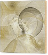 Series Abstract Art In Earth Tones 3 Wood Print