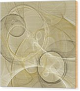 Series Abstract Art In Earth Tones 4 Wood Print