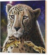 First In The Big Cat Series - Cheetah Wood Print