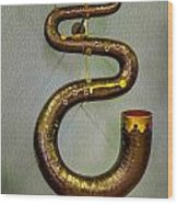 Serpent Horn Wood Print
