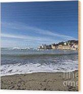 Sestri Levante And Beach Wood Print