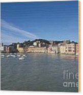 Sestri Levante With Blue Sky Wood Print